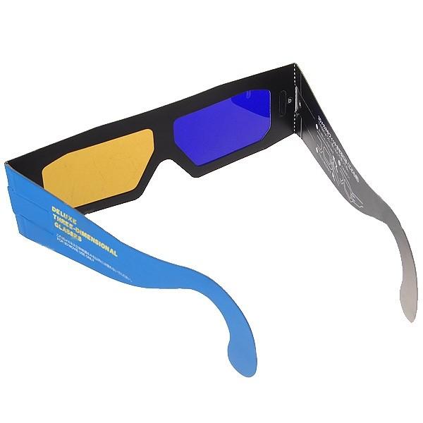 1450a3246 Model 11 - 3D okuliare papierové hnedo-modré/BROWN-BLUE